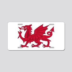 Welsh Dragon Aluminum License Plate